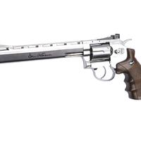 revolver co2 dan wesson 8″ nickel .177 bbs # 17533