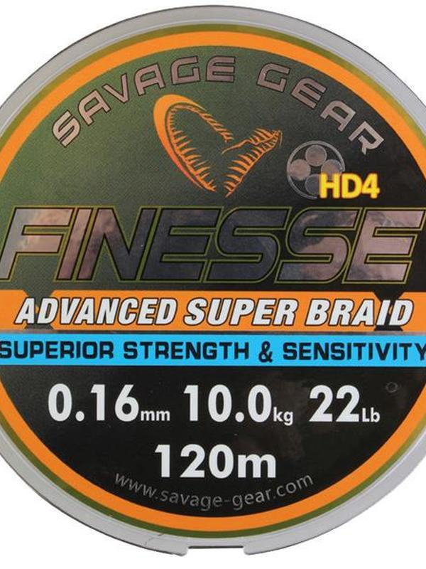 TRESSE SAVAGE GEAR FINEZZE HD4 BRAID JAUNE - 120M