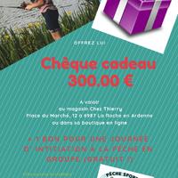 Chèque cadeau + 1 journée d'initiation pêche
