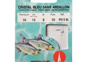 Hameçons montés Cristal bleu sans ardillon 9012BL
