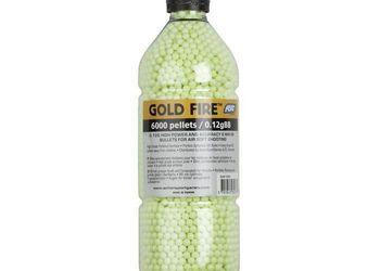 bouteille 6000 billes soft air gold fire 0,12 gr # 15991