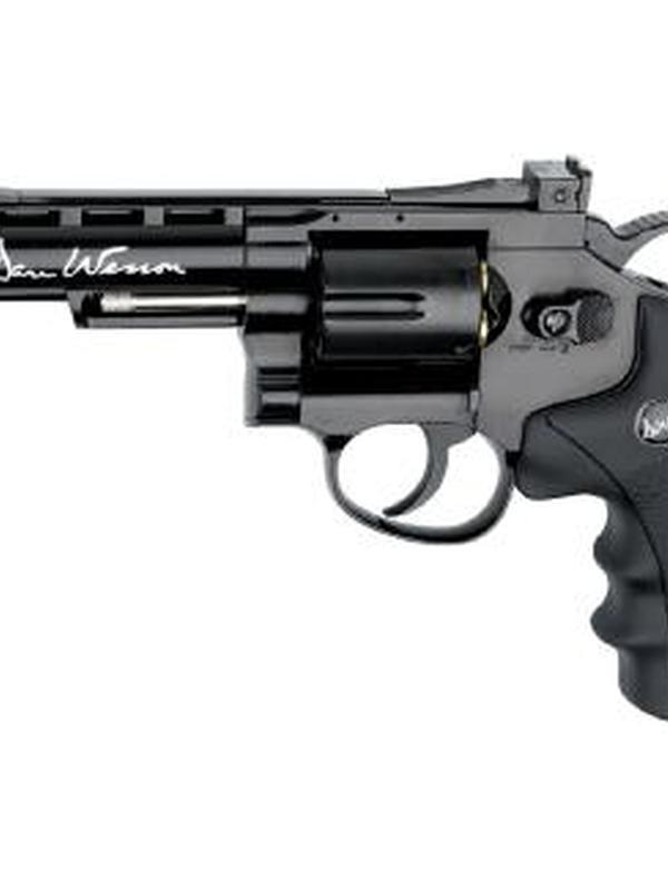 revolver co2 dan wesson 4″ blue .177 bbs # 17176
