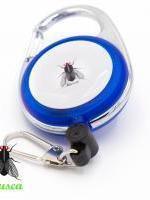 MUSCA Bouton Service avec Ruban à Mesurer - Bleu